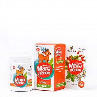 """Драже """"Алтайский маралёнок"""" с йодом и витамином С"""